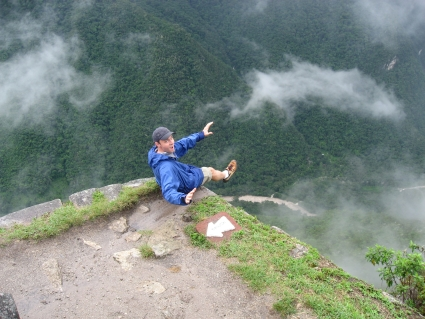 Climbing to the top of Wayna Picchu - photo by Rob McFarland