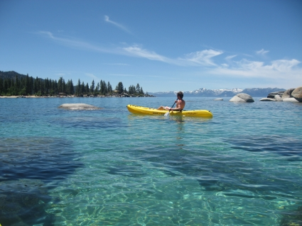 Kayaking on Lake Tahoe