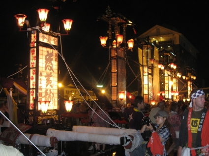 Kiriko lanterns in the Wajima Taisai festival - photo by Rob McFarland