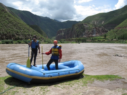 Rafting down the Urubamba River in Peru