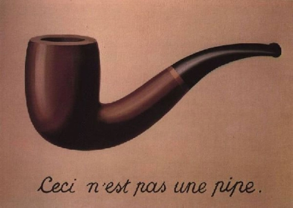 'This is not a pipe' by Rene Magritte