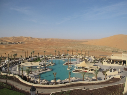 View of Liwa Desert from Qasr Al Sarab - photo by Rob McFarland