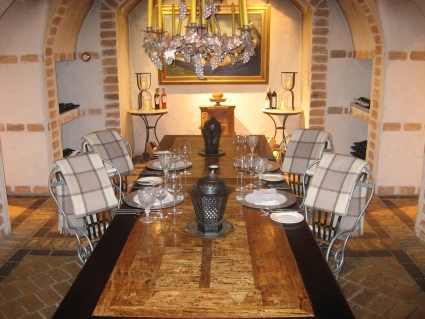 Dinner in Huka Lodge's Wine Cellar - photo by Rob McFarland