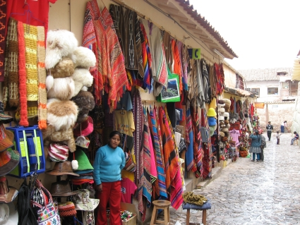 Market stall in Cusco - photo by Rob McFarland