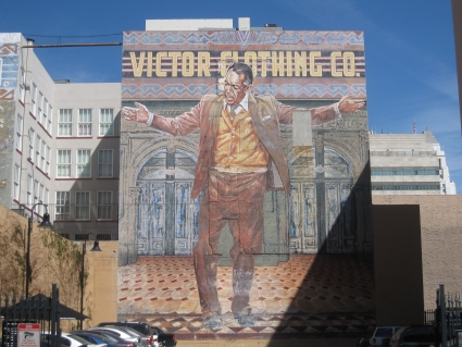 Mural in downtown LA - photo by Rob McFarland