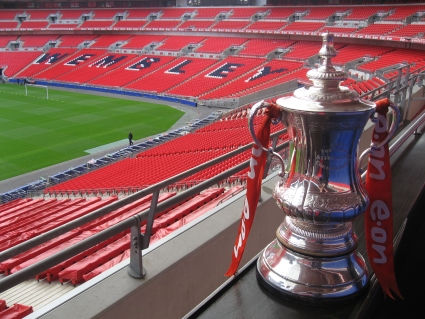 Replica FA Cup in Wembley Stadium - photo by Rob McFarland
