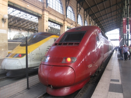 Thalys and Eurostar in Paris - photo by Rob McFarland