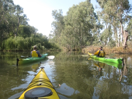 Paddling the backwaters of Lake Mulwalla - photo by Rob McFarland
