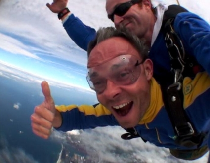 Skydiving over Wollongong - photo by Rob McFarland