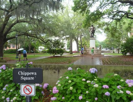 Chippewa Square in Savannah - photo by Rob McFarland