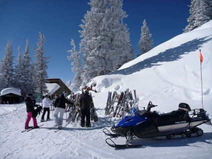 Visiting Aspen ski patrol - photo by Rob McFarland