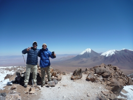Top of Toco Volcano in Atacama desert - photo by Rob McFarland