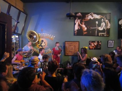 Meschiya Lake & The Little Big Horns at The Spotted Cat, New Orleans - photo by Rob McFarland