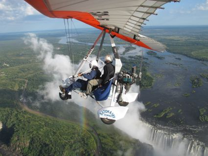 Microlight over Victoria Falls - photo by Rob McFarland
