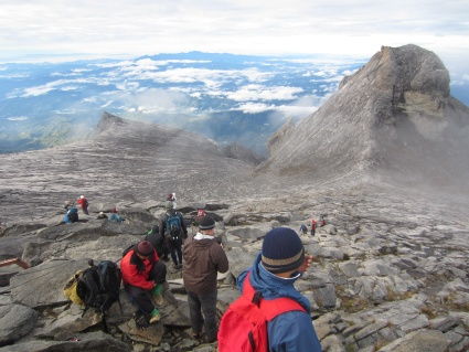 View from summit of Mt Kinabalu - photo by Rob McFarland