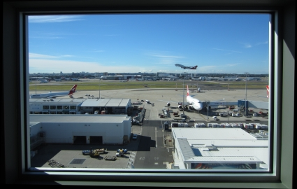 View from room at Rydges Sydney Airport Hotel - photo by Rob McFarland