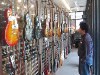 New guitars at the Gibson Guitar Factory, Memphis, TN - photo by Rob McFarland
