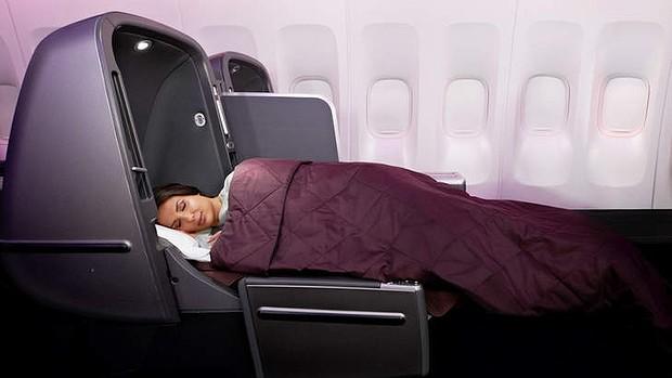 Qantas business class - Boeing 747
