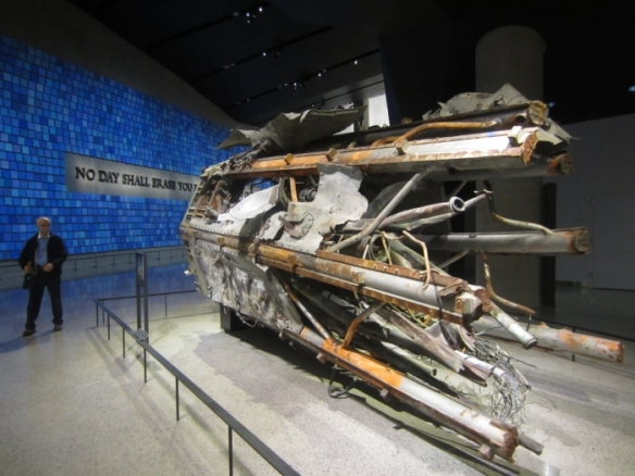 Segment of radio and television antenna from top of North Tower in 9-11 Museum - photo by Rob McFarland