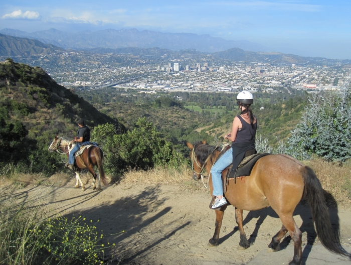 Sunset Ranch Ride over Hollywood hills - photo by Rob McFarland
