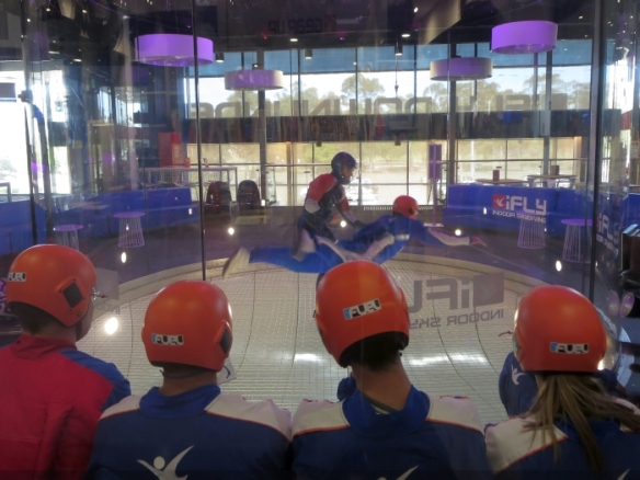Indoor skydiving at iFLY Downunder in Penrith - photo by Rob McFarland