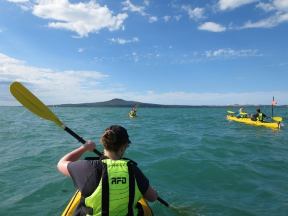 Kayaking to Auckland's Rangitoto Island - photo by Rob McFarland