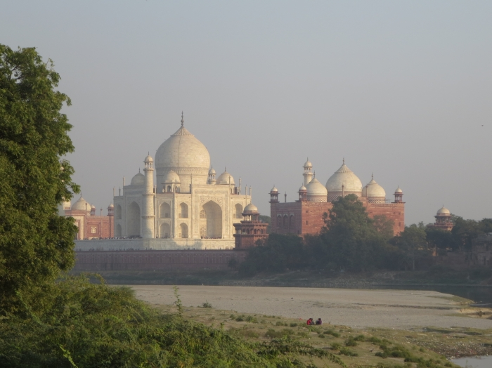 View of Taj Mahal from the north bank of the Yamuna River - photo by Rob McFarland