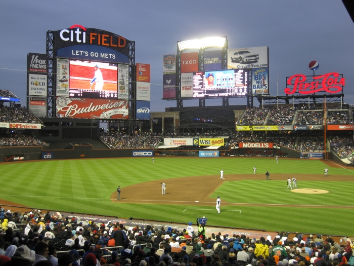 Watching the New York Mets play in Citi Field Stadium - photo by Rob McFarland