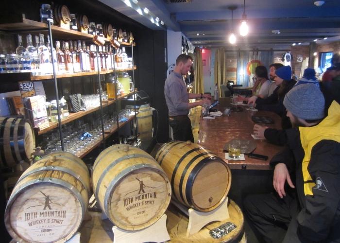 10th Mountain Whiskey & Spirit Company tasting room - photo by Rob McFarland