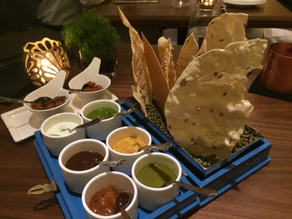 Papads at Indian Accent restaurant in New York - photo by Rob McFarland