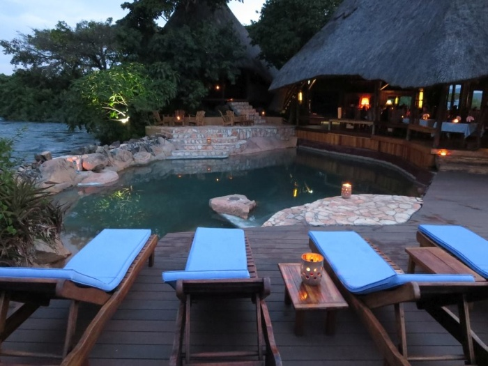 Pool at Wildwaters Lodge in Uganda - photo by Rob McFarland