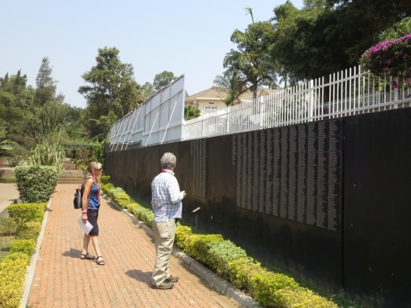 Remembrance wall at Kigali Genocide Memorial - photo by Rob McFarland