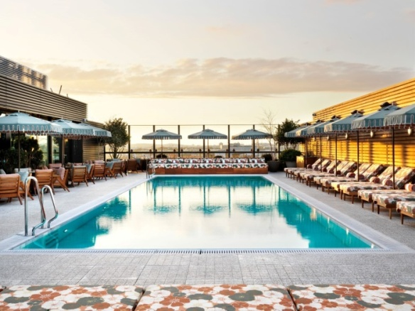 Rooftop pool at Soho House's White City House - photo by Soho House