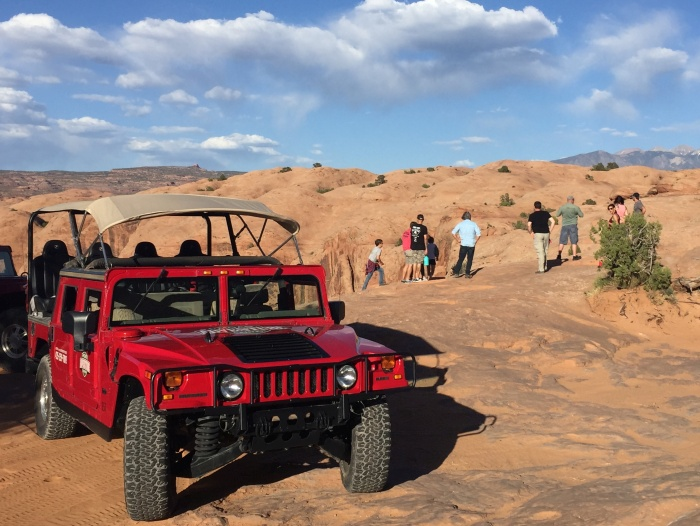 Sunset Hummer tour in Moab, Utah - photo by Rob McFarland