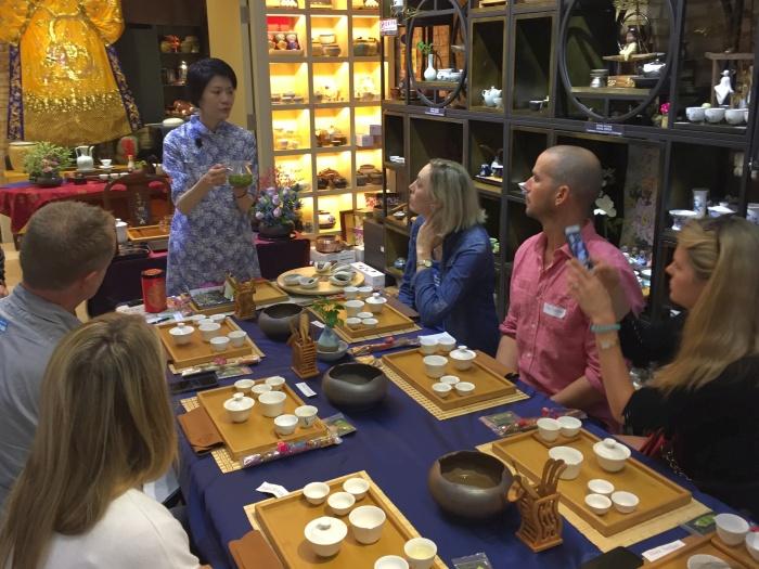 Tea tasting class at Homeland Tea Garden with May Chan - photo by Rob McFarland