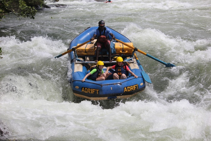 White water rafting on the White Nile in Uganda - photo by Rob McFarland