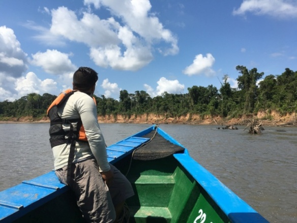 Cruising up the Tambopata River in Peru - photo by Rob McFarland