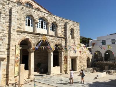 Entrance to the Panagia Ekatontapiliani church on Paros - photo by Rob McFarland