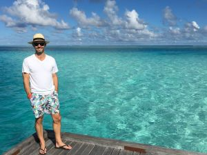 Travel writer Rob McFarland in Maldives