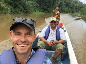 Travel writer Rob McFarland in Panama