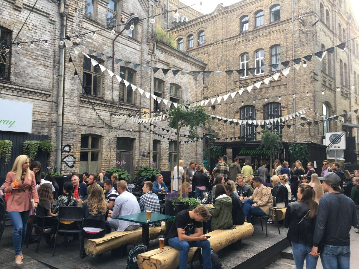 Beer garden in Riga, Lativa - photo by Rob McFarland
