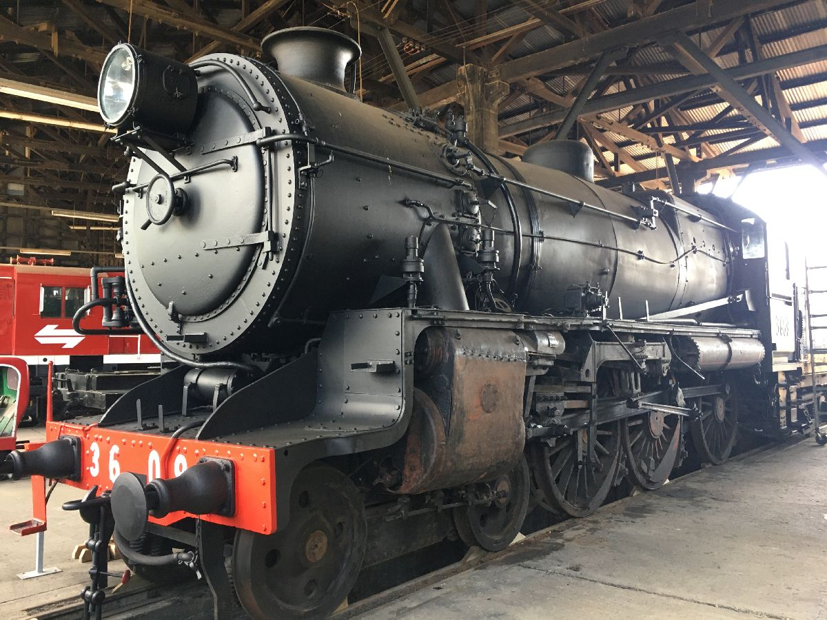 Steam locomotive at Junee Roundhouse Railway Museum, NSW - photo by Rob McFarland